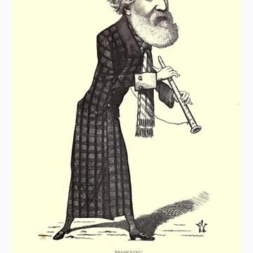 19th Century caricature of Robert Browning by caldayjd