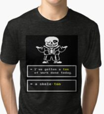 Undertale - Sans Skeleton - Undertale T shirt Tri-blend T-Shirt