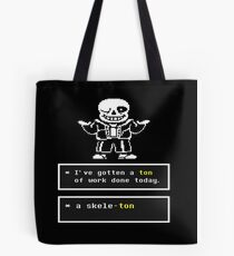 Undertale - Sans Skeleton - Undertale T shirt Tote Bag