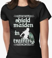 Shield Maiden in Training - Vikings Womens Fitted T-Shirt