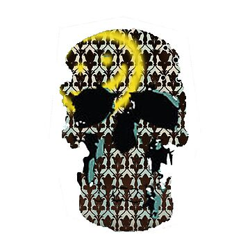 Sherlock Skull and Wall Print by Chiswick