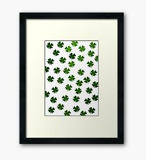 Shamrocks Invasion Framed Print