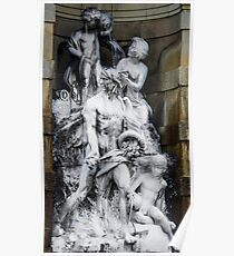 Barcelona Statue Poster