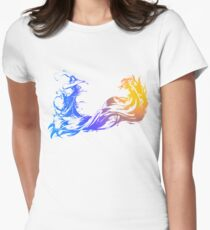 Final Fantasy 10 logo X Womens Fitted T-Shirt