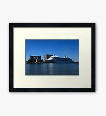 P & O Pacific Dawn - Brisbane River Framed Print