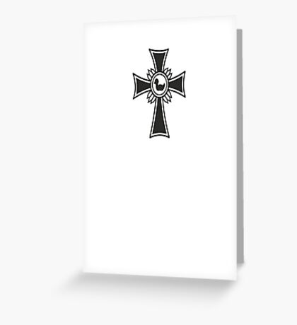 The Iron Duck Cross VRS2 Greeting Card