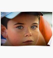 Kid's blue eyes Poster