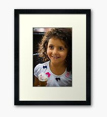 Happy Young Lady  Framed Print