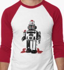 Robots and Nature Men's Baseball ¾ T-Shirt