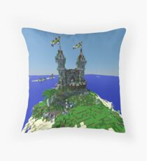 Minecraft Castle Throw Pillow