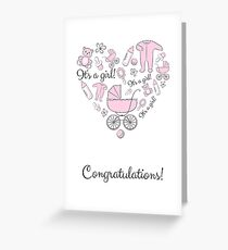 Congratulations! It's a girl! Greeting Card