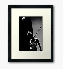 Woman in Shadows  Framed Print