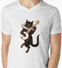 Funny Vintage Cat Dancing and Playing Banjo T-Shirt