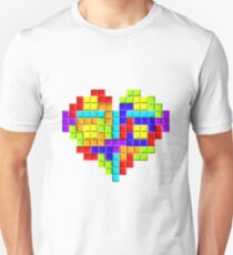 Tetris Block Heart T-Shirt
