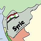 Drapeau syrien Biohazard caricature by Binary-Options