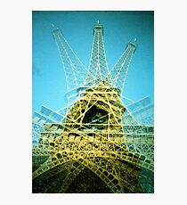 Eiffel Tower is Falling Down - Lomo Photographic Print