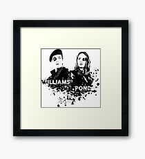 Amy Pond & Rory Williams Framed Print