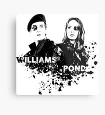 Amy Pond & Rory Williams Metal Print