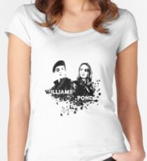 Amy Pond & Rory Williams Women's Fitted Scoop T-Shirt