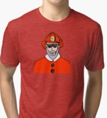 Fireman Santa Tri-blend T-Shirt