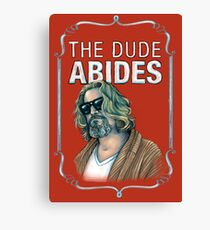 BIG LEBOWSKI-The Dude- Abides Canvas Print