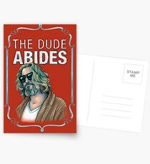 BIG LEBOWSKI-The Dude- Abides Postcards