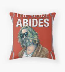 BIG LEBOWSKI-The Dude- Abides Throw Pillow