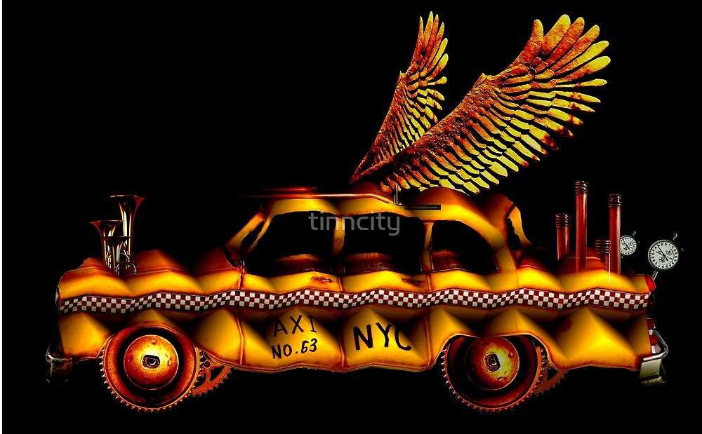flying taxi number 63 by tinncity