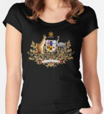 australian coat of arms Women's Fitted Scoop T-Shirt