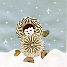 Eskimo Spirograph Boy Playing in the snow! by RachelEDesigns