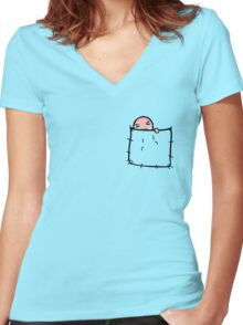Isaac in your pocket Women's Fitted V-Neck T-Shirt