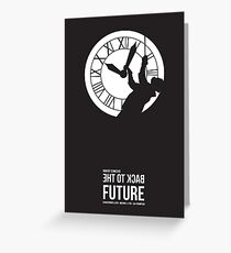 Back to the Future - Doc Brown & the Clock Tower Greeting Card