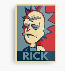 Tiny Rick Metal Print