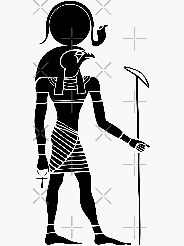 Ägyptischer Gott Ra von Smaragdas