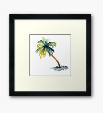 Watercolor palm tree Framed Print