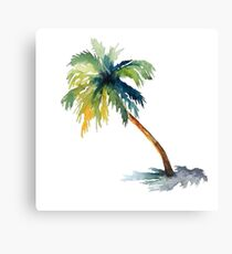 Watercolor palm tree Canvas Print