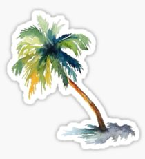 Watercolor palm tree Sticker