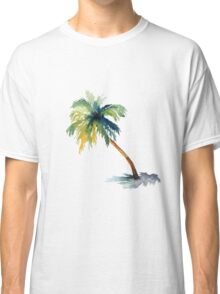 Watercolor palm tree Classic T-Shirt