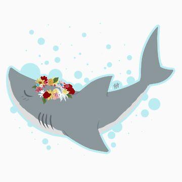 Shark Flower Crown by discosmackdown