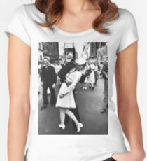 Times Square V/J-Day Kiss Women's Fitted Scoop T-Shirt