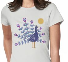 Gemmy Peacock Womens Fitted T-Shirt