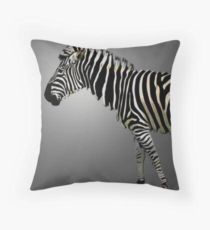 a slice of zebra Throw Pillow