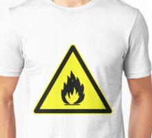 Fire Hazard Symbol Unisex T-Shirt