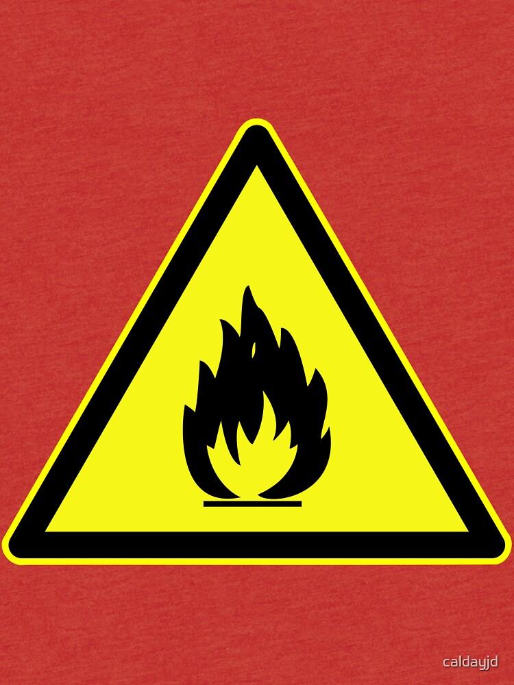 Fire Hazard Symbol Tri Blend T Shirt By Caldayjd Redbubble