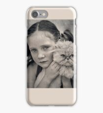 A Girl and her Cat iPhone Case/Skin