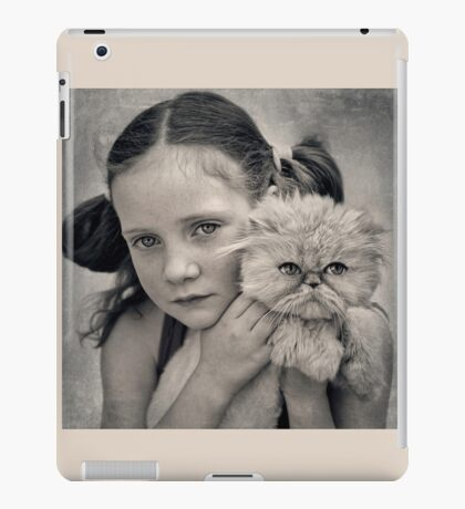 A Girl and her Cat iPad Case/Skin