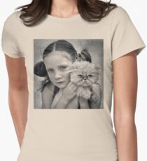 A Girl and her Cat Womens Fitted T-Shirt