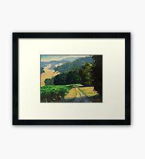 Along The Vineyard Framed Print