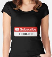 YouTube 1 Million Subscribers Women's Fitted Scoop T-Shirt