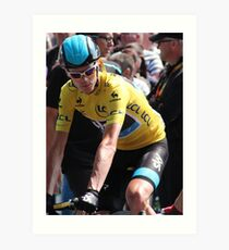 Chris Froome (2), Tour de France 2013 Art Print